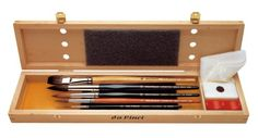 Quick and Easy Gift Ideas from the USA  Da Vinci Series 5240 Watercolor Deluxe Wood Box 5 Brush Set http://welikedthis.com/da-vinci-series-5240-watercolor-deluxe-wood-box-5-brush-set #gifts #giftideas #welikedthisusa