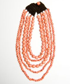 #NoondayChristmas Cascading Falls Necklace, Salmon. I don't have this as a part of my samples, and I really wish I did. I have almost bought it so many times!
