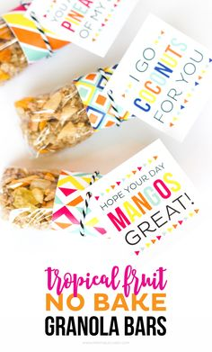 This Tropical Fruit No Bake Granola Bar recipe is great for breakfast ...