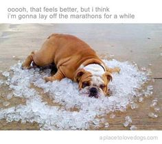 I feel like this after my really long runs sometimes. Usually a really cold shower helps