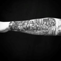Last Supper Forearms Mens Religious Tattoo