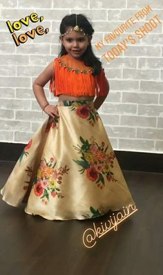 Indian Dresses For Kids, Kids Indian Wear, Kids Ethnic Wear, Frocks For Girls, Kids Frocks, Cute Girl Dresses, Pretty Dresses, Lehanga For Kids, Kids Fashion Wear