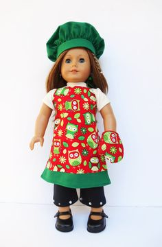 American Girl Doll Clothes Reversible Apron by DonnaDesigned, $https://www.etsy.com/listing/168395866/american-girl-doll-clothes-reversible?25.00