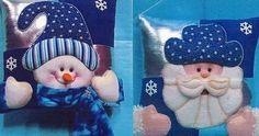 Bien venidas a este curso donde aprenderemos a como hacer este hermoso diseño de cojín, si tu eres muy aficionada y encantadora de lo... Christmas Sewing, Blue Christmas, Felt Christmas, Christmas Holidays, Christmas Projects, Felt Crafts, Christmas Crafts, Christmas Ornaments, Elf Christmas Decorations