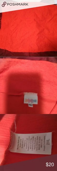 Lularoe Cassie LuLaRoe Cassie Size 2xl Crinkle fabric, extremely stretchy and not thick at all. Very comfortable. Color is a red/orange tone, perfect for spring. Washed per LLR instructions. LuLaRoe Skirts Pencil