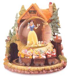 Disney Snowglobes Collectors Guide: Snow White mine carts Snowglobe