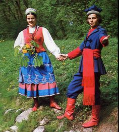 Costume and Embroidery of Kujawy, Poland Polish Folk Art, Costumes Around The World, Poland Travel, Great Paintings, Thinking Day, Folk Costume, My Heritage, Polish Girls, Traditional Outfits