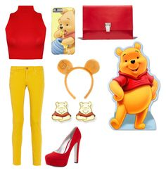 """Winnie The Pooh#42"" by dianaeveshowell ❤ liked on Polyvore featuring M Missoni, WearAll, Prada, Proenza Schouler and Disney"