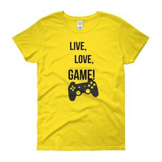 WOMEN'S FIT LIVE, LOVE, GAME TEE - Thumbnail 5