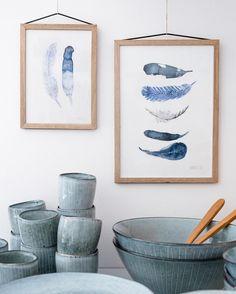 Room to Dream - Slow Living, the scandinavian way Slow Living, Shades Of Blue, Scandinavian, Ceramics, Art Prints, Munich, Feathers, Instagram Posts, Room