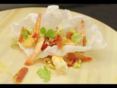 Recette de galette de riz aux crevettes & poutargue - Alexis