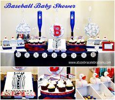 Baseball Baby Shower-http://atozebracelebrations.com/2013/09/baseball-baby-shower.html