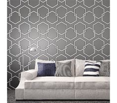 Honeycomb Gray Designer Removable Wallpaper