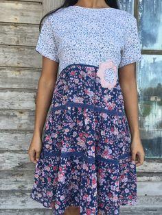 RESERVED-Thea dress-small medium-artsy-Eco clothing-upcycled