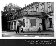 Hodzovo nam. - restauracia Hron Bratislava Slovakia, Street View, Nostalgia, Times, History