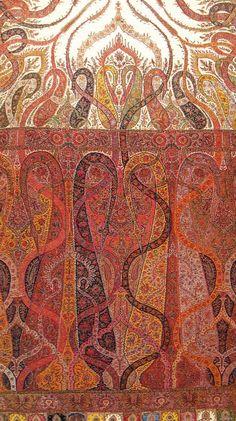 Kashmir Paisley Shawl – Shoulder Mantel. Sikh – Dogra Period. ca 1845.