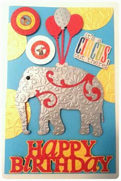 Circus Theme Happy Birthday Card...