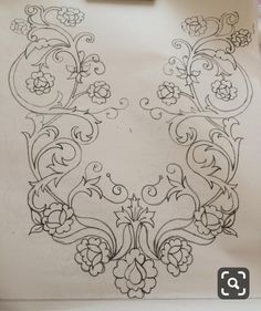 Islamic Art Pattern, Pattern Art, Pattern Design, Gold Embroidery, Cross Stitch Embroidery, Embroidery Patterns, Art Drawings Sketches Simple, Bargello, Flower Art