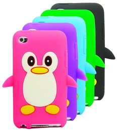 Cute Cartoon Penguin Silicone Case Skin Cover for Apple iPod Touch 4 / 4G / 4th Gen