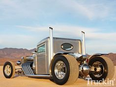 Peterbilt Hot Rod Truck Left Rear Angle Photo 6