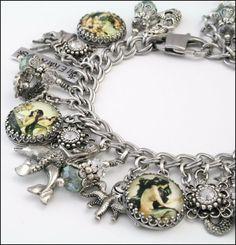 Mermaid Charm Bracelet, Mermaid Jewelry, Mermaid Handcrafted Jewelry, Ocean Bracelet