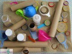 Sensory Exploration with Sand – Baby Room 2020 Dear Zoo Activities, Train Activities, Science Activities For Kids, Montessori Activities, Kindergarten Activities, Nursery Activities, Sand Tray, Sand Table, Sensory Play Recipes