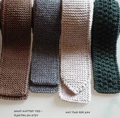 Men hand knit ties – Merino wool, silk, cashmere ties – Teens knitted tie- – The Best Ideas Mens Shirt And Tie, Suit And Tie, Wool Tie, Knit Tie, Hand Knitting, Knitting Patterns, Crochet Patterns, Crochet Bows, Knit Crochet