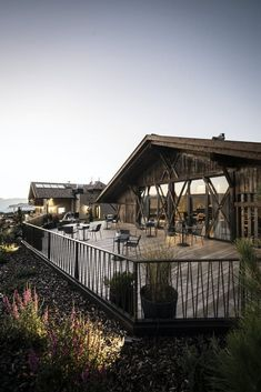 Gfell: A hotel under the barn | noa* network of architecture; Photo: Alex Filz | Archinect Hotel Architecture, Amazing Architecture, Landscape Architecture, Hotel Interiors, Natural Scenery, Hotel S, Beautiful Landscapes, Facade, Barn
