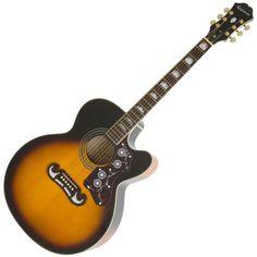 Epiphone EJ-200CE Electro Acoustic Guitar, Vintage Sunburst at Gear4Music.com