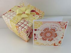 Coordinating gift box with card.