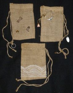 I just listed Bags Burlap Drawstring Bags With Charms Set of Three on The CraftStar @TheCraftStar #uniquegifts