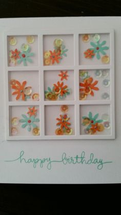 Fun shaker birthday card