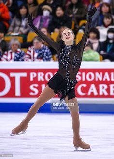 Angelina Kuchvalska of Latvia competes during Day 6 of the ISU World Figure Skating Championships 2016 at TD Garden on April 2, 2016 in Boston, Massachusetts.