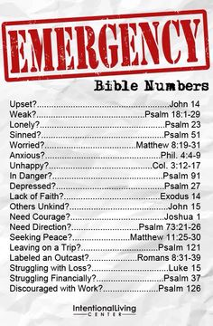 emergency bible verses :3