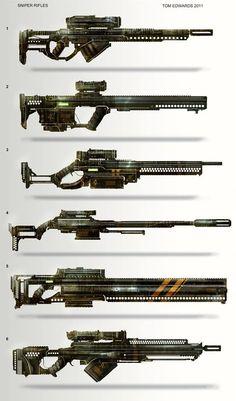 Tom Edwards 2011, sniper rifles