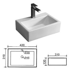 Basin - Bathroom Bizarre: TR4128 Santos Small Basin - Square Small Basin, Coffee Maker, Sink, Kitchen Appliances, Mirror, Bathroom, Ideas, Home Decor, Saints