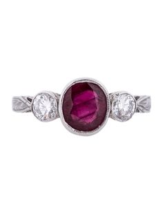 Diamond and Ruby Ring - Fine Jewelry - FJR10153 | The RealReal