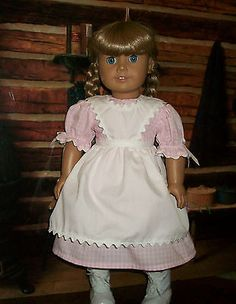 American-Girl-Doll-Birthday-Dress-for-Kirsten-in-Pink-Gingham-3-pc-set