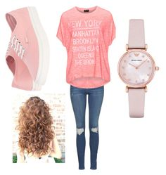 """""""Untitled #15"""" by sydneykimora on Polyvore featuring Replace, Topshop, Vans and Emporio Armani"""