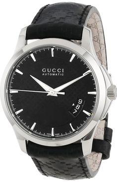 Gucci Watch , Gucci Men's YA126413 Gucci Timeless Black Diamond Pattern Dial Watch...$1,295.00