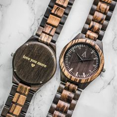 Treehut All Wood Watch // Zebrawood + Ebony 31
