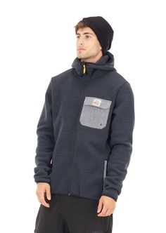 Men's Marco Hoodie Black - Recycled Polyester from Plastic Bottles Snowboarding, Skiing, Lifelong Friends, Sports Hoodies, Black Hoodie, The North Face, Sportswear, Organic, Chilling