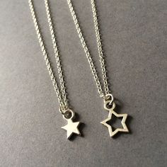 Star Necklace Silver Star Necklace Layering by Instyleglamour