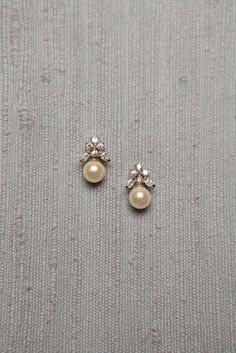 Simple Diamond and Pearl Studs