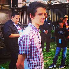asa butterfield. Dude I want that kids shirt back there.