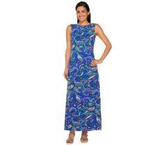 Liz Claiborne New York Petite Paisley Printed Maxi Dress