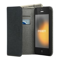 FlipWallet case - iPhone 5 Handy FlipWallet features a clever integrated design, with cash and credit card pockets. Carry all the essentials in one case while shielding your iPhone from scratches. Enjoy access to all functions and a screen protector.