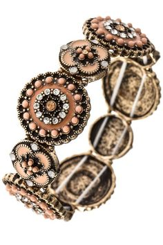 Geometric Stretch Colored Bracelet