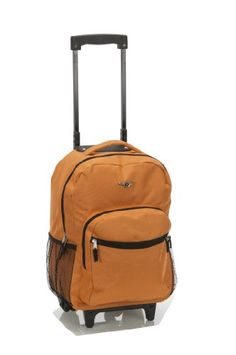 Rockland Luggage 17 Inch Rolling Backpack - List price: $80.00 Price: $23.99