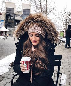 Taking a hot cocoa break ❄️☕️ It's 22 degrees here today Outfit details (coat is JCrew from last year): http://liketk.it/2pYu0 #liketkit #whatimwearing #wiw #ootd #winterstyle #winterfashion #americanstyle #snowday